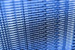 Primo piano di Java Script, di CSS e del HTML fotografia stock libera da diritti
