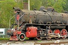 Primo piano di Jiayang Cina-Un del treno a vapore Immagini Stock