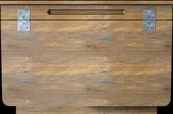 Primo piano di legno d'annata dello scrittorio della scuola Fotografie Stock Libere da Diritti