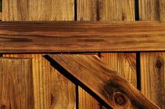 Primo piano di legno del cancello Fotografia Stock