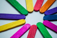 Primo piano di legno del fondo di colori astratti fotografia stock