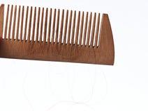 Primo piano di legno del pettine Fotografie Stock Libere da Diritti