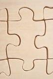 Primo piano di legno del puzzle Fotografia Stock