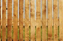 Primo piano di legno della rete fissa Fotografie Stock