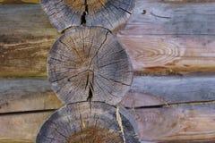 Primo piano di legno di struttura del fondo dei ceppi Immagini Stock Libere da Diritti