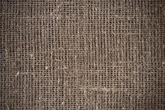 Primo piano di licenziamento naturale della tela di iuta della tela da imballaggio Fotografia Stock