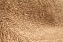 Primo piano di licenziamento naturale della tela di iuta della tela da imballaggio Struttura u del fondo Fotografia Stock Libera da Diritti