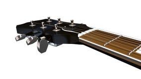 Primo piano di Machineheads della chitarra elettrica Immagini Stock