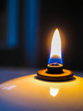 Primo piano di macro della lampada a olio fotografia stock libera da diritti