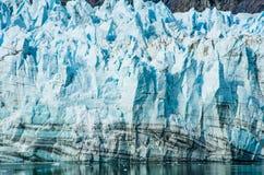 Primo piano di Margerie Glacier nell'Alaska Fotografie Stock Libere da Diritti