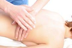 Primo piano di massaggio della spina dorsale Immagine Stock Libera da Diritti