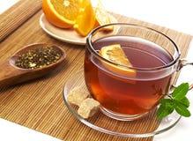 Primo piano di messa a punto del tè Immagini Stock Libere da Diritti