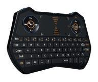 Primo piano di Mini Wireless Bluetooth Keyboard, rappresentazione 3D illustrazione di stock