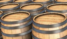 Barilotti di legno illustrazione di stock