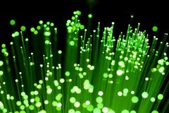 Primo piano di ottica delle fibre Fotografie Stock