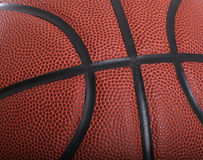 Primo piano di pallacanestro Fotografia Stock