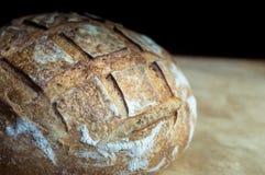 Primo piano di pane all'aglio crostoso Fotografia Stock Libera da Diritti