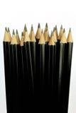 Primo piano di parecchie matite nere fotografia stock libera da diritti