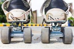 Primo piano di pattinaggio a rotelle Immagini Stock Libere da Diritti