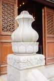 Primo piano di piccolo achitecture in Po Lin Monastery, Hong Kong immagini stock