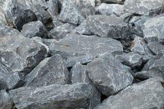Primo piano di pietra, fondo della roccia Fotografie Stock Libere da Diritti