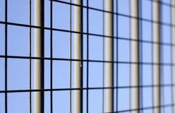 Primo piano di recinzione del ferro Fotografia Stock Libera da Diritti