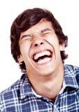 Primo piano di risata dell'uomo Immagini Stock Libere da Diritti