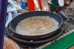 Primo piano di riso appiccicoso arrostito o di riso glutinoso fotografia stock libera da diritti