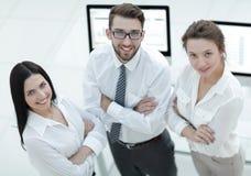Primo piano di riuscita squadra di affari Immagine Stock
