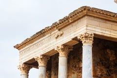 Primo piano di Roman Theatre antico Fotografia Stock