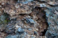 Primo piano di sale e di rocce fotografia stock libera da diritti