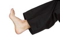 Primo piano di scossa di karatè del piede Fotografia Stock Libera da Diritti