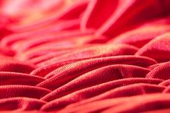 Primo piano di seta rosso Immagine Stock Libera da Diritti