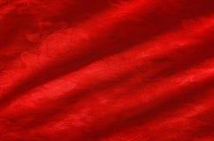Primo piano di seta rosso Fotografia Stock