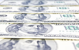 Primo piano di soldi americani Fotografia Stock Libera da Diritti