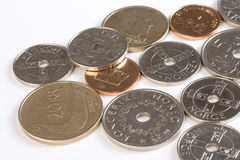 Primo piano di soldi norvegesi. Fotografie Stock Libere da Diritti