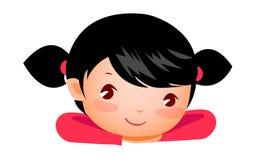 Primo piano di sorridere della ragazza royalty illustrazione gratis