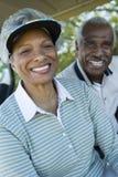 Primo piano di sorridere senior delle coppie fotografia stock libera da diritti