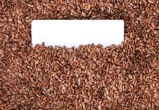 Primo piano di struttura del seme di lino Fotografie Stock