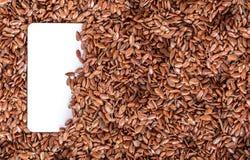 Primo piano di struttura del seme di lino Immagine Stock Libera da Diritti