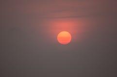 Primo piano di Sun ad alba Fotografia Stock