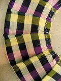 Primo piano di tessuto pieghettato Fotografia Stock