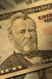 Primo piano di Ulysses S. Grant sulla fattura $50 Immagini Stock Libere da Diritti
