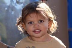 Primo piano di un bambino sveglio Fotografia Stock Libera da Diritti