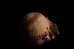 Primo piano di un baseball Fotografia Stock Libera da Diritti