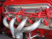 Primo piano di un lato del motore del hotrod. Fotografie Stock Libere da Diritti
