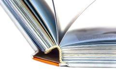 Primo piano di un libro aperto Immagini Stock Libere da Diritti