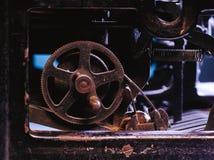 Primo piano di un meccanismo d'annata antico della macchina da scrivere Immagini Stock Libere da Diritti