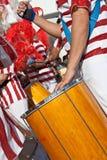 Primo piano di un membro del batterista del sectio di Bateria Fotografia Stock Libera da Diritti