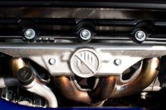 Primo piano di un motore pulito Fotografie Stock